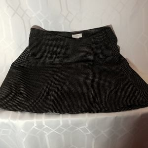 Ann Taylor Loft black & gold skirt women's size 12